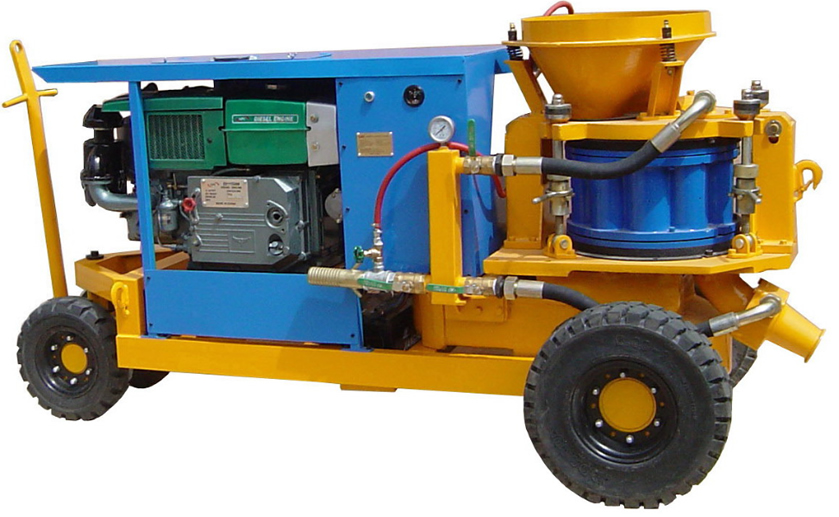 shotcrete machine with diesel engine