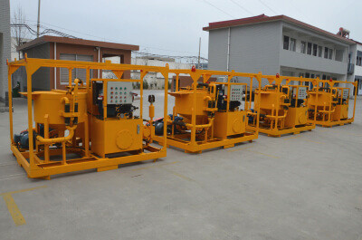 High flow hydraulic grout pump station for sale